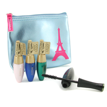 Bourjois Mascara Set ( 3x Mascara + 1x Express Eye Make-Up Corrector + Bag ) 4pcs+1bag