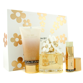 Marc Jacobs Daisy Estuche: Agua de Colonia Vaporizador 100ml/3.4oz + Exfoliante Ducha 150ml/5oz + Ge