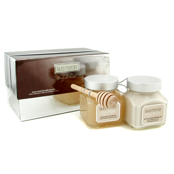 Laura Mercier Body & Bath Set: Almond Coconut Milk Honey Baño 150g/6oz + Crema Corporal 150g/6oz