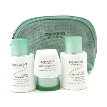 buy Pevonia Botanica Your Skincare Solution Dry Skin Holiday Set: Cleanser 50ml + Lotion 50ml + Cream 20ml + Bag 3pcs+1bag  skin care shop