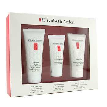 Elizabeth Arden Eight Hour Set: Day Cream 49g + Hand Treatment 28g + Body Treatment 48g 3pcs