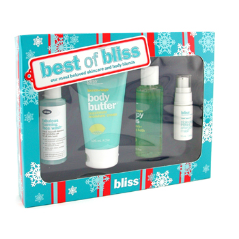 Bliss Best Of Bliss Set: Manteca Corporal + Espuma Corporal + Máscara Triple Oxígeno + Jabón Rostro