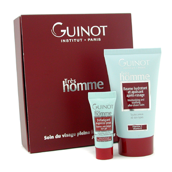 Guinot Tres Homme Deluxe Kit: Bálsamo después Afeitado 75ml + Gel Ojos Express 4.9ml