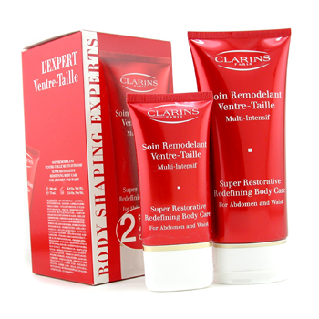 Para a pele da mulher, Clarins, Clarins Body Shaping Experts: Super Restorative Redefining Body Care 200ml + Super Restorative Redefining Body Care 75ml 2pcs
