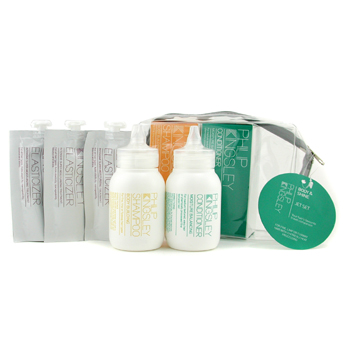 buy Philip Kingsley Body & Shine Jet Set: Shampoo + Conditioner + Elasticizer 5pcs by Philip Kingsley skin care shop
