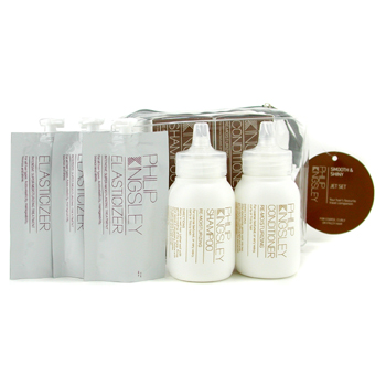 buy Philip Kingsley Smooth & Shiny Jet Set: Shamoo + Conditioner + Elasticizer 5pcs by Philip Kingsley skin care shop