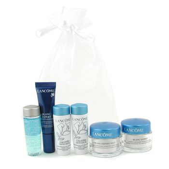 buy Lancome Travel Set: Bi Facil 15ml + 2x Galateis Douceur 15ml + Blanc Expert Cream 15ml + Night Cream 15ml + Spot Eraser 10ml 6pcs  skin care shop