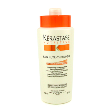 buy Kerastase Nutritive Bain Nutri-Thermique Thermo-Reactive Intensive Nutrition Shampoo (For Very Dry and Sensitised Hair) 1000ml/34oz by Kerastase skin care shop