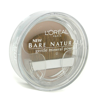 Maquiagens, L'Oreal, L'Oreal Bare Naturale Gentle Mineral Powder Compact with Brush - No. 408 Soft Ivory 9.5g/0.33oz