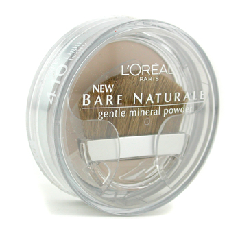 Maquiagens, L'Oreal, L'Oreal Bare Naturale Gentle Mineral Powder Compact with Brush - No. 410 Light Ivory 9.5g/0.33oz