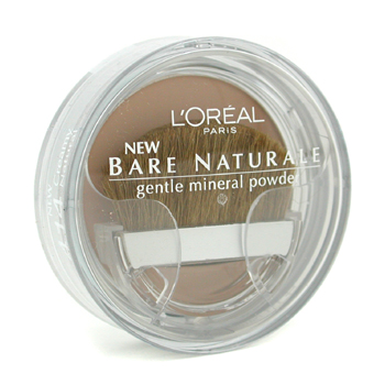 Maquiagens, L'Oreal, L'Oreal Bare Naturale Gentle Mineral Powder Compact with Brush - No. 414 Creamy Natural 9.5g/0.33oz