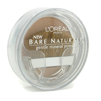 Maquiagens, L'Oreal, L'Oreal Bare Naturale Gentle Mineral Powder Compact with Brush - No. 418 Buff Beige 9.5g/0.33oz