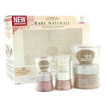 Maquiagens, L'Oreal, L'Oreal Bare Naturale The Flawless Starter Kit - No. 458 Light Ivory Collection 3pcs