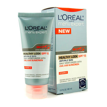 Para a pele do homem, L&#039;Oreal, L&#039;Oreal Men Expert Healthy Look Anti-Pale Skin Daily Moisturizer SPF15 60ml/2oz