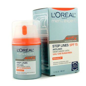L`Oreal Men`s Expert Stop Lines Anti-Lines Moisturizer with SPF 15 48ml/1.6oz