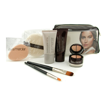 Laura Mercier Oil Free Flawless Face Kit - # Sand: Foundation Primer + Hidratante Tintado + Undercov