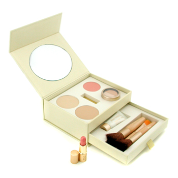 Jane Iredale Starter Kit (2x Pressed Powder + Moisture Tint + Concealer + Blush + Lip Plumper + 3x Brush) - Golden 9pcs