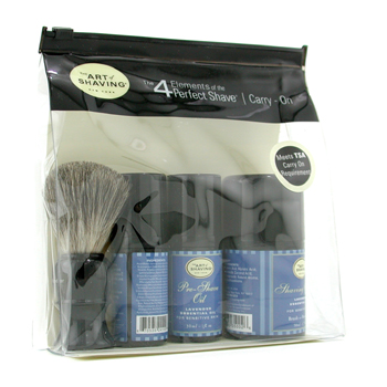 The Art Of Shaving Carry On Kit - Lavender ( Pieles Sensibles )