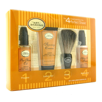 buy The Art Of Shaving Starter Kit - Lemon: Pre Shave Oil + Shaving Cream + Brush + After Shave Balm 4pcs  skin care shop