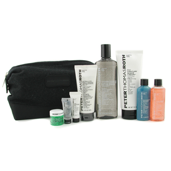 buy Peter Thomas Roth Ideal Shave Kit: Clns Gel+ Buffing Beads+ Shave Crm+ A/S Tonic+ A/S Balm+ Gel+ Lip Balm+ Mask+ Bag 8pcs+1Bag  skin care shop