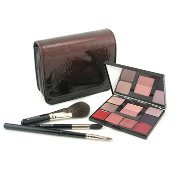 Laura Mercier Face Palette Collection: 4x Eyeshadow + 1x Cheek Colour Duo + 4x Lip Glazes + 3x Brush + 1x Case 12pcs+1case
