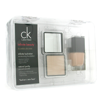 buy Calvin Klein Infinite Beauty Set - For Medium Skin Tones (Foundation # 103  Pressed Powder # 107) 2pcs  skin care shop