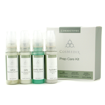 CosMedix Set Prep Care : Refiune 10ml/0.3oz + Defy 10g/0.3oz + Limpiador Pureza 10ml/0.3oz + Hidrata