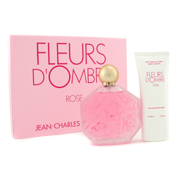 buy Jean-Charles Brosseau Fleurs D'Ombre Rose Coffret: Eau De Toilette Spray 100ml/3.4oz + Body Lotion 50ml/1.7oz 2pcs  skin care shop