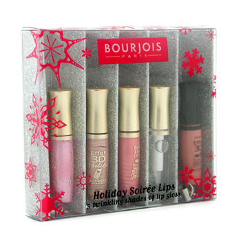 Bourjois Holiday Soiree Lips Set: 5x Mini Effect 3D Mobile Gloss Labial