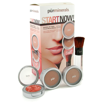 PurMinerals Start Now 4 Piece Essentials Collection - Deep (Polvos Prensados +Brillo Mineral + Marbl