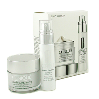 Clinique Set Even Younger : Ever Better Skin Tone Corrector + Youth Surge SPF 15 Age Decelerating Hi