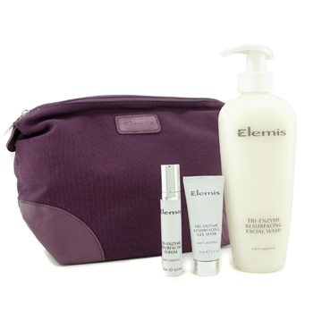 Elemis Supersize Smoothing System: Facial Wash 400ml/13.5oz + Serum 10ml/0.3oz + Gel Mask 15ml/0.5oz