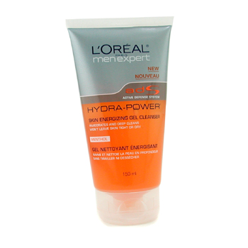L`Oreal Men Expert Hydra Power Skin Energizing Gel Cleanser 150ml/5oz