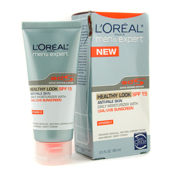 L`Oreal Men Expert Healthy Look Anti-Pale Skin Daily Moisturizer SPF15 ( Box Slightly Damaged ) 60ml/2oz