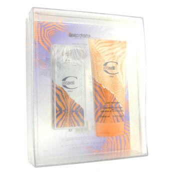 Roberto Cavalli Estuche Just Cavalli Him : Agua de Colonia Vaporizador 60ml/2oz + Gel de Ducha 200ml