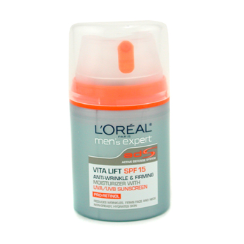 L`Oreal Men Expert Vita Lift Anti-Wrinkle & Firming Moisturizer with UVA/ UVB SPF 15 48ml/1.6oz