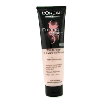 L'Oreal Dermo-Expertise De-maq Expert Milk To Toner 2 in 1 Make Up Remover