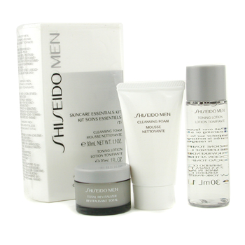 Shiseido Skincare Essentials Kit (T): Jabón Limpiador + Toning Lotion + Revitalizante Total