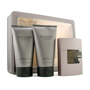 buy Guess Suede Coffret: Eau De Toilette Spray 75ml/2.5oz + After Shave Balm 150ml/5oz + Body Wash 150ml/5oz 3pcs  skin care shop