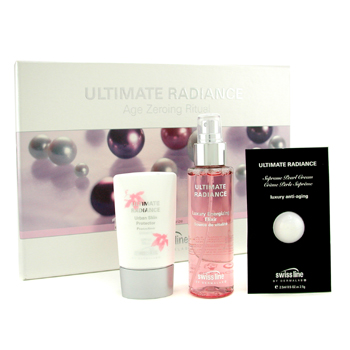 Swissline Ultimate Radiance Set: Elixir 100ml/3.38oz + Pearl Cream 2.5ml/0.05oz + Day Protector 45ml