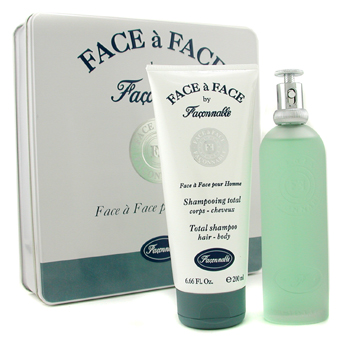 Faconnable Face A Face Estuche: Agua de colonia Vaporizador 100ml/3.33oz + Champú Total 200ml/6.66oz