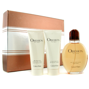 Calvin Klein Estuche Obsession : Agua de Colonia Vap. 125ml/4oz + Gel de Ducha 100ml/3.4oz + Bálsamo