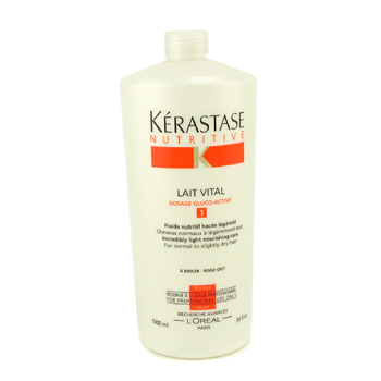 Cuidados com o cabelo, Kerastase, Kerastase Leite Nutritivo Nutritive Lait Vital Incredibly Light Nourishing Care ( P/ cabelo normal a seco ) 1000ml/34oz