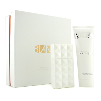 buy S. T. Dupont Blanc Coffret: Eau De Parfum Spray 50ml/1.7oz+ Body Lotion 100ml/3.3oz 2pcs  skin care shop