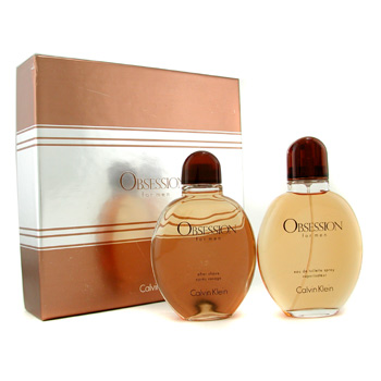 Calvin Klein Estuche Obsession : Agua de Colonia Vap. 125ml/4oz + After Shave Splash 125ml/4oz