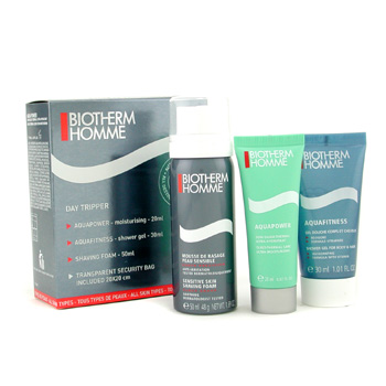 Biotherm Homme Aquapower Set Triple Día : Aquapower + Gel de Ducha + Espuma Afeitado