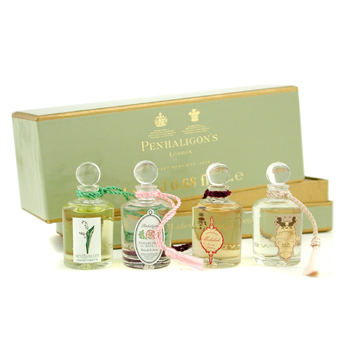 Penhaligon's Ladies Fragrance Collection:Elisabethan Rose+ Lily Of The Valley+ Malabah+ Artemisia