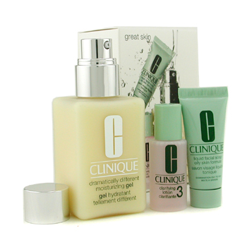 Clinique Great Skin Set: DDMG + Liquid Facial Soap Oily + Clarifying Lotion 3