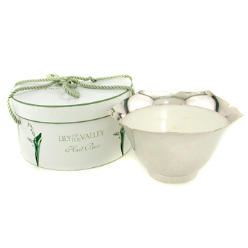 Penhaligon's Lily Of The Valley Candle In A Silver Plated Flower Bowl