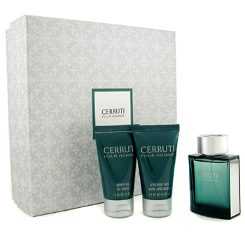 buy Cerruti Cerruti Pour Homme Coffret: Edt Spray 50ml/1.7oz + Shower Gel 50ml/1.7oz + A/S Balm 50ml/1.7oz 3pcs  skin care shop
